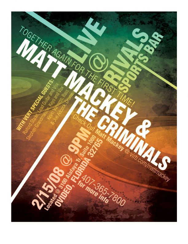 Matt Mackey Flyer